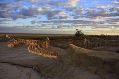 Mungo nationaal park, NSW, Australië Royalty-vrije Stock Afbeeldingen