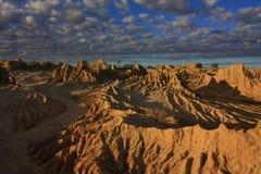 Mungo nationaal park, NSW, Australië Stock Afbeelding