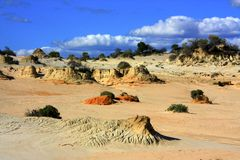 Mungonationalpark, NSW, Australien Royaltyfri Bild