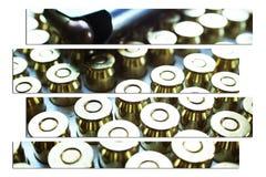 Munição Art High Quality da arma da mão de 45 automóveis Foto de Stock Royalty Free