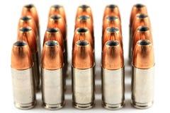 munição do Oco-ponto do revólver de 9mm Imagem de Stock Royalty Free