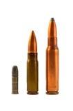 Munição para as armas automáticas Fotografia de Stock Royalty Free