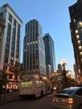 Muni Municipal San Francisco Night-Markt St Stock Afbeeldingen