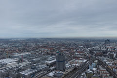 MUNICH – JANUARY 30: Aerial view of Munich. On a cloudy day Stock Images