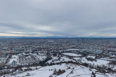 MUNICH – JANUARY 30: Aerial view of Munich Stock Images