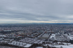 MUNICH – JANUARY 30: Aerial view of Munich. From the Olympic tower Stock Image