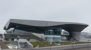 MUNICH – JANUARY 30: BMW Welt building in Munich, Germany. On a cloudy day Royalty Free Stock Image