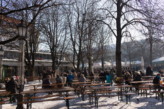 MUNICH – JANUARY 28: Victuals Market Viktualienmarkt. MUNICH – JANUARY 28: Victuals Market Viktualienmarkt. Sprawling 200-year-old market with over 100 Stock Images
