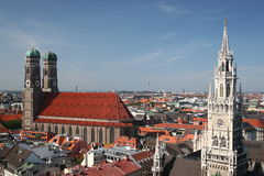 Munich. View of frauenkirche and city hall in munich, germany Stock Image