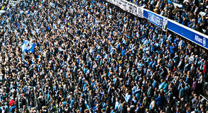Munich 1860 supporters royalty free stock photo