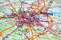Munich. Road map of Munch, Germany Stock Photo