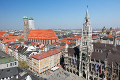 Munich aerial view Stock Photography