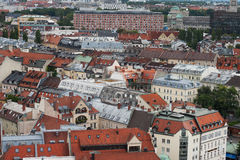 Munich aerial view. City view from St. Peter's Church Stock Images