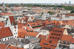 Munich aerial view. City view from St. Peter's Church royalty free stock photography