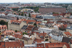 Munich aerial view. City view from St. Peter's Church stock image