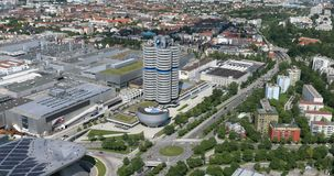 Munich, aerial view stock footage