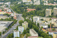 Munich aerial view Stock Images