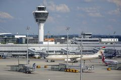 Munich Airport, Bavaria, Germany. Airport Munich II Franz-Josef-Strauss, Erding, Bavaria, Germany, Europe Royalty Free Stock Image