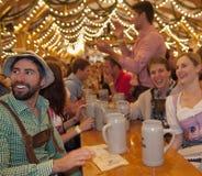 MUNICH, ALEMANHA - 23 DE SETEMBRO DE 2014: Oktoberfest Fotografia de Stock