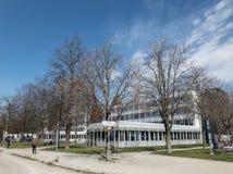 Munich, Alemanha, o 4 de abril de 2019: sede GmbH de munich, também a sede do bwi do exército de Alemanha em munich fotografia de stock