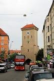 Munich Alemanha - porta de Isartor Foto de Stock Royalty Free