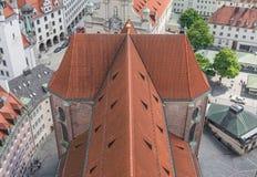 Munich, Alemanha - uma cidade velha do patrimônio mundial do Unesco fotos de stock