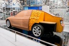 Munich, Alemania - 10 de marzo de 2016: Modelo del coche de la arcilla del concepto en la exposición del museo de BMW Foto de archivo libre de regalías