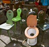 MUNICH Alemania - mercado de pulgas gigante del aire abierto Fotos de archivo libres de regalías