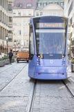 Munich, Alemania - tranvía azul foto de archivo libre de regalías