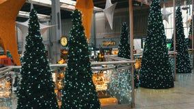 Munich, Allemagne - 2 décembre 2018 : Gare ferroviaire avant Noël Admirablement décoré pour la station de Noël grand banque de vidéos