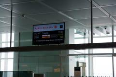 MUNICH, ALLEMAGNE - 21 janvier 2017 : Porte d'embarquement d'Air Canada à l'aéroport de MUC pour mon vol de classe d'affaires ver Photo stock