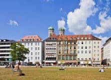Munich, Allemagne - Marienhof l'été photographie stock