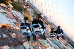 MUNICH, ALLEMAGNE Oktoberfest : Les gens sur le carrousel Photos libres de droits