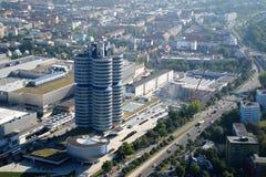 MUNICH, ALLEMAGNE - 13 septembre 2016 : Vue aérienne de musée de BMW Image stock