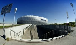 Munich Allianz Arena - A view from the south. Stock Photos