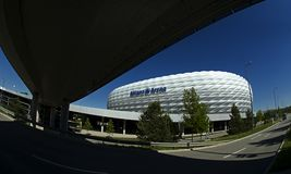 Munich Allianz Arena - A view from the south. Royalty Free Stock Photography