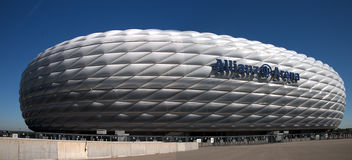 Munich Allianz Arena - A view from the south. Arena new soccer stadium in Munich Royalty Free Stock Images