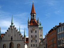 Munich, Altes Rathaus. Munich famous building, Altes Rathaus, Old Town Hall in Germany stock photography