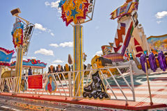 Munich, amusement park at Theresienwiese Stock Image