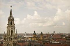 Munich antenn Arkivbild
