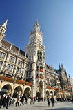 Munich architecture. New town hall in Marienplatz Stock Photo