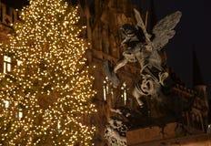 Munich au temps de Noël l'allemagne Photographie stock libre de droits