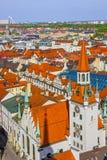 Munich av Bayern, Tyskland Gammal townarkitektur Arkivfoto