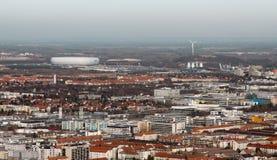 Munich avec l'arène Photo stock