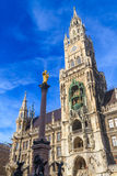 Munich, ayuntamiento gótico en Marienplatz, Baviera Foto de archivo