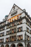 Beautiful houses and shops in Neuhauser street, Munich - Germany royalty free stock image