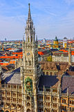 Munich in Bavaria, Germany. Town Hall building Royalty Free Stock Image
