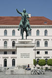 MUNICH - BAVARIAN CAPITAL. PHOTO CAPTION - Monument of Bavarian king Maximilian Stock Photo