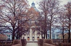 Munich - Bavarian State Chancellery, winter view Stock Photo