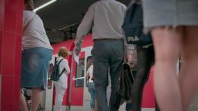 Munich Baviera, Alemania, Europa - 2 de julio Transporte público ferroviario 2018 metrajes